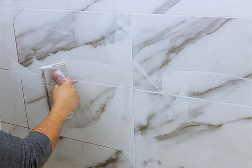 Grouting tile