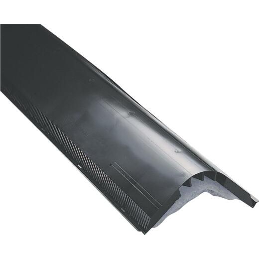 Air Vent Attic-Aire 48 In. Black Filtered Shingle-Over Ridge Vent