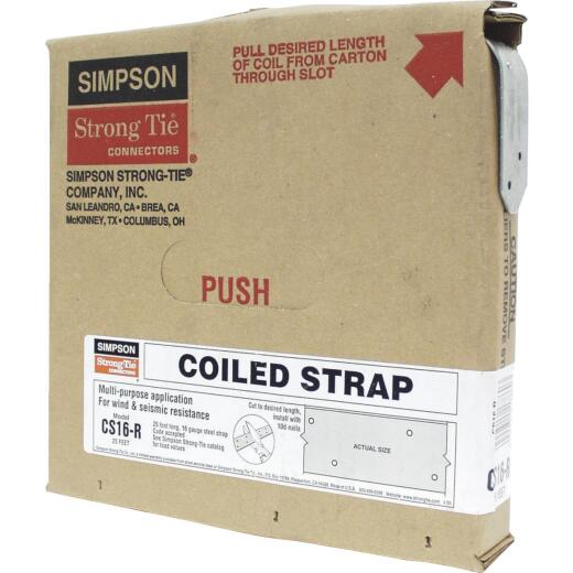 Simpson Strong-Tie 1-1/4 in. x 25 ft. Galvanized Steel 16 Gauge Coiled Strapping