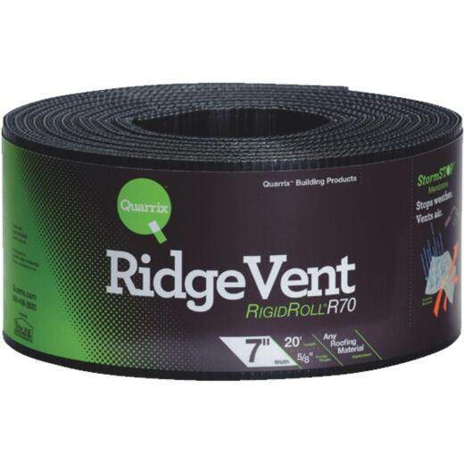 Quarrix 7 In. x 20 Ft. Shingle-Over Rolled Ridge Vent