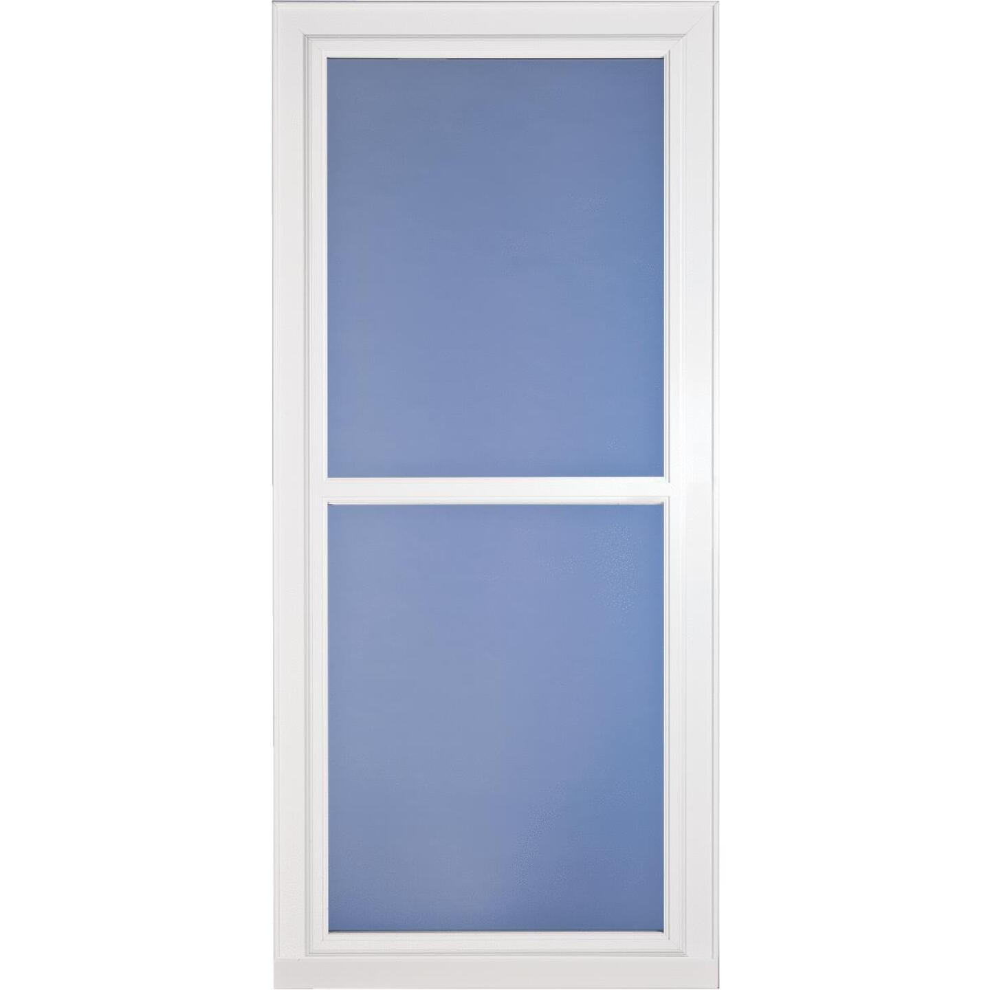 Larson Easy Vent 146 Series 32 In. W. x 81 In. H. x 1-7/8 In. Thick White Full View Aluminum Storm Door Image 1