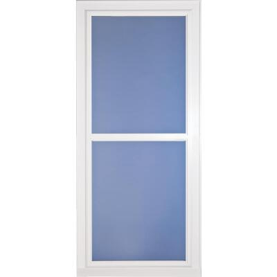 Larson Easy Vent 146 Series 32 In. W. x 81 In. H. x 1-7/8 In. Thick White Full View Aluminum Storm Door