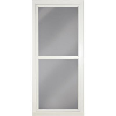 Larson Easy Vent 146 Series 36 In. W. x 81 In. H. x 1-7/8 In. Thick White Full View Aluminum Storm Door