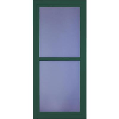 Larson Easy Vent 146 Series 36 In. W. x 81 In. H. x 1-7/8 In. Thick Green Full View Aluminum Storm Door