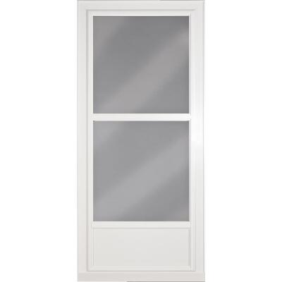 Larson Easy Vent 146 Series 36 In. W. x 81 In. H. x 1-7/8 In. Thick White Mid View Aluminum Storm Door