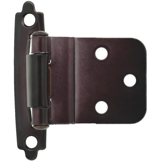 Liberty Oil Rubbed Bronze 3/8 In. Self-Closing Inset Hinge, (2-Pack)