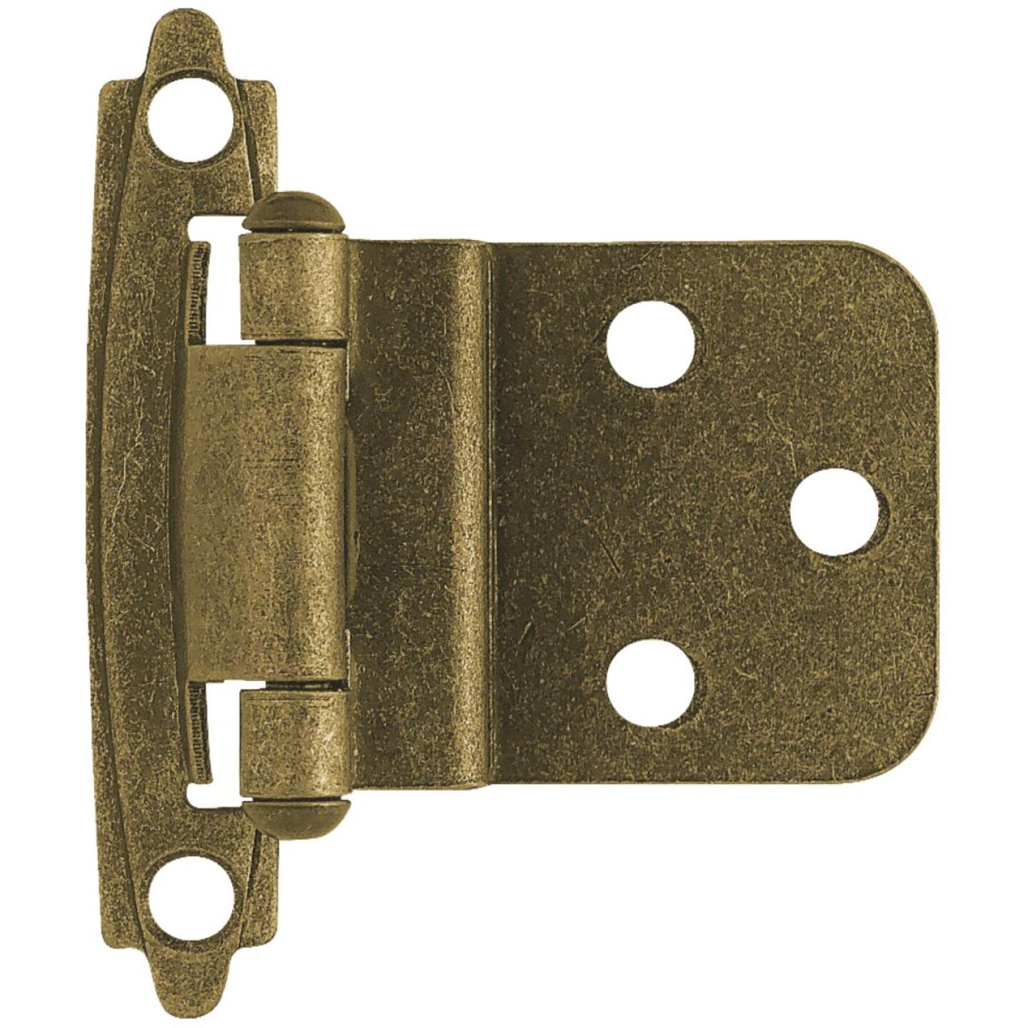 Liberty Burnished Antique Brass 3/8 In. Self-Closing Inset Hinge, (2-Pack) Image 1
