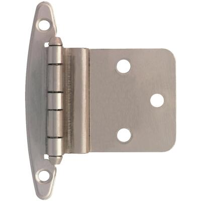 Liberty Satin Nickel 3/8 In. Inset Hinge, Without Spring, (10-Pack)