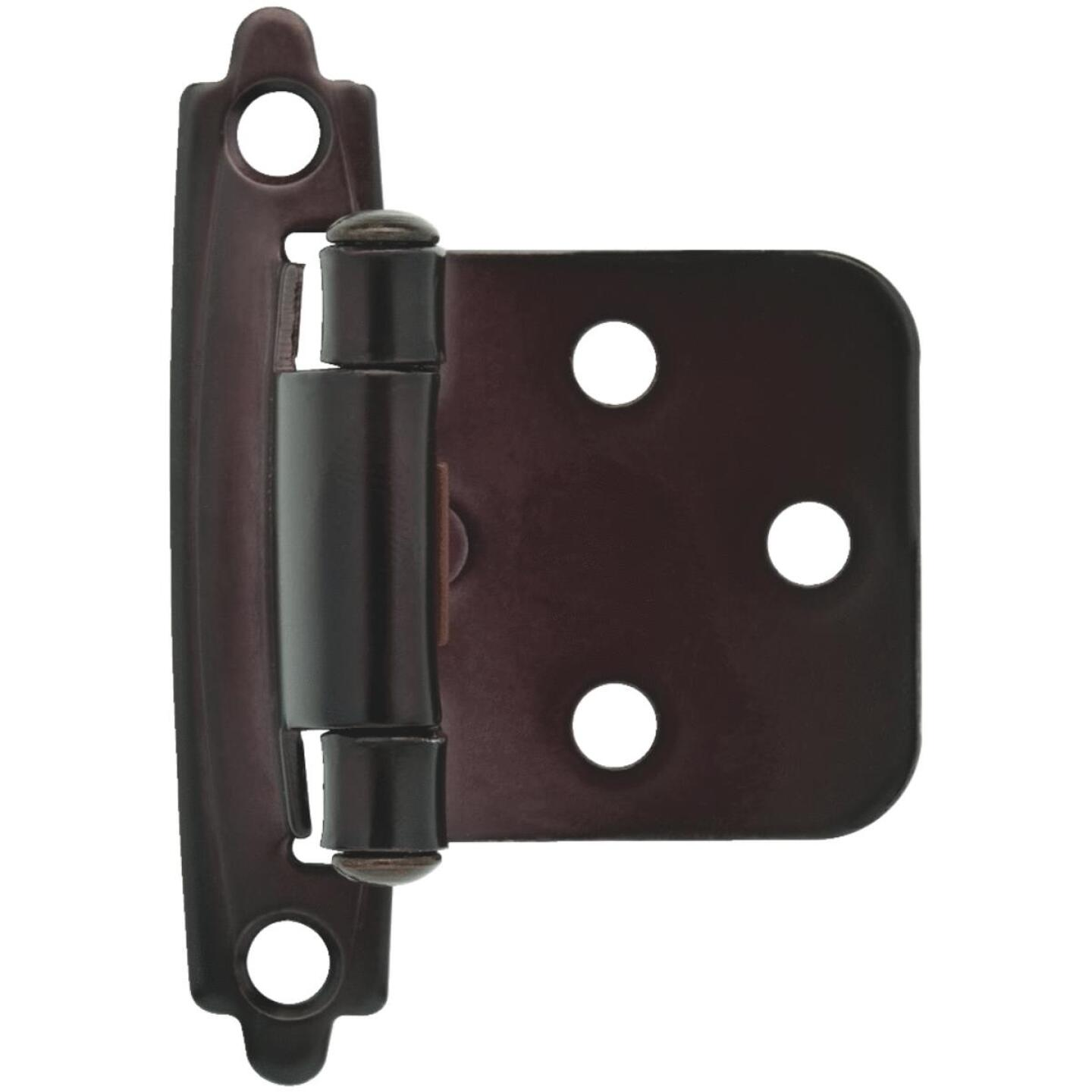 Liberty Oil Rubbed Bronze Self-Closing Overlay Hinge (2-Pack) Image 1