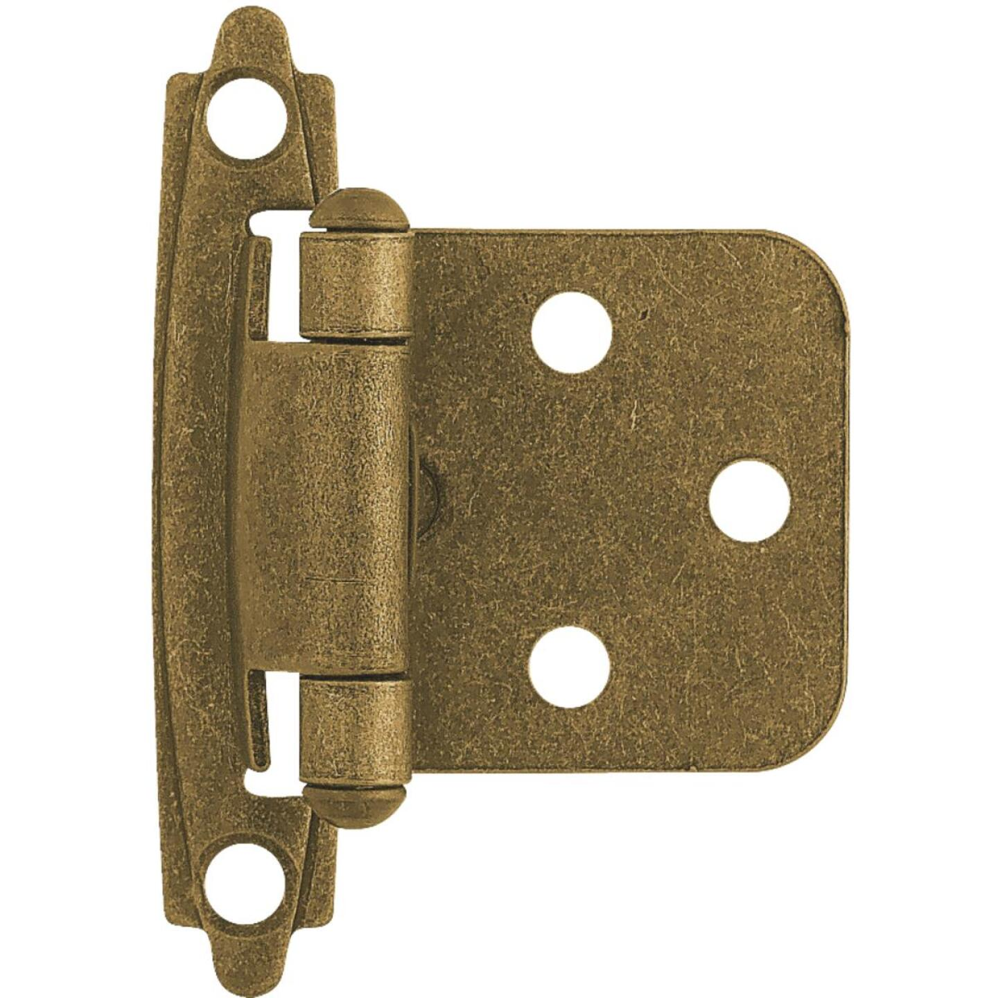 Liberty Antique Brass Self-Closing Overlay Hinge (2-Pack) Image 1