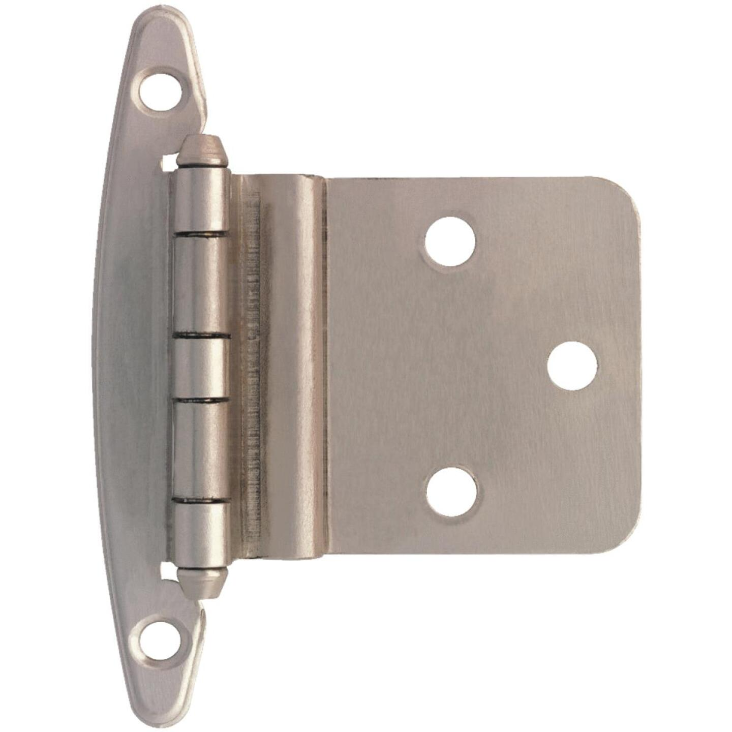 Liberty Satin Nickel 3/8 In. Inset Hinge, Without Spring, (2-Pack) Image 1