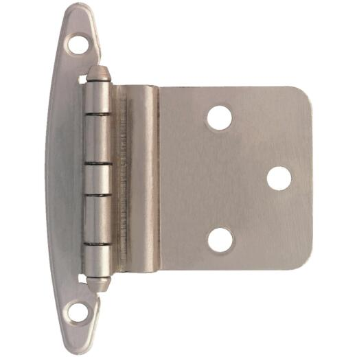 Liberty Satin Nickel 3/8 In. Inset Hinge, Without Spring, (2-Pack)