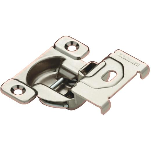 Liberty Overlay Face-Frame Nickel Plated 1-3/8 In. 108 Degree European Hinge, (2-Pack)