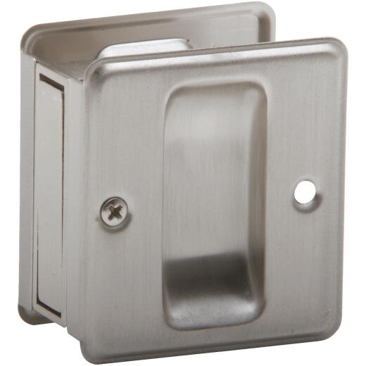 Schlage Passage Satin Nickel Pocket Door Pull