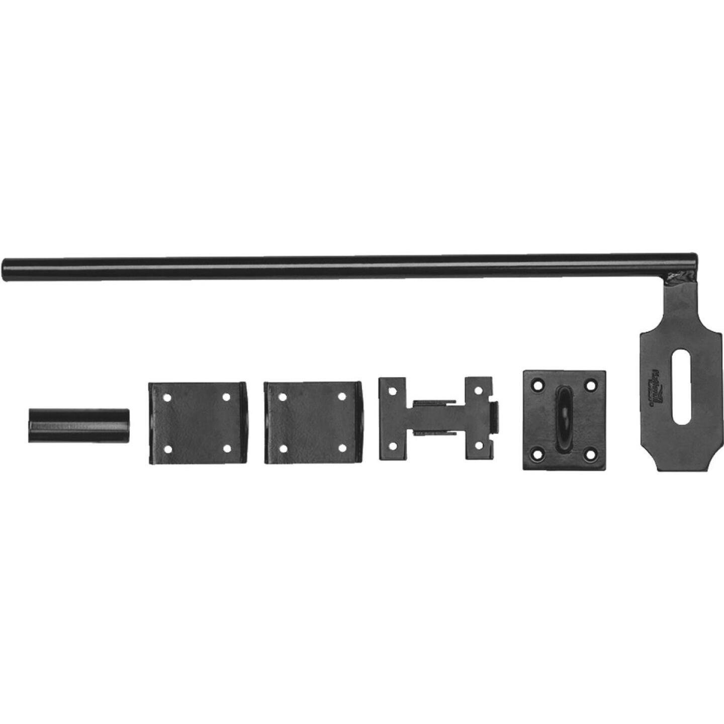 National 5/8 In. X 18 In. Black Steel Lock Cane Bolt Image 1
