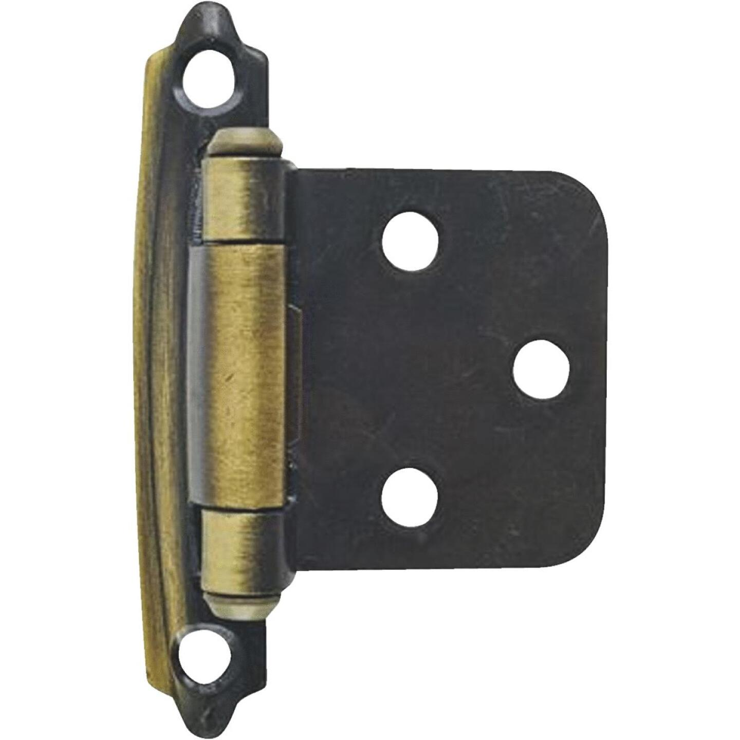 Amerock Antique Brass Self-Closing Face Mount Variable Overlay Hinge (2-Pack) Image 1