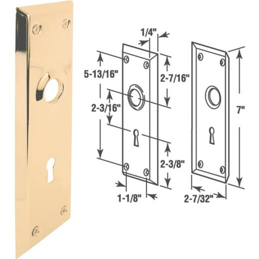 Defender Security Brass Mortise Trim Plate
