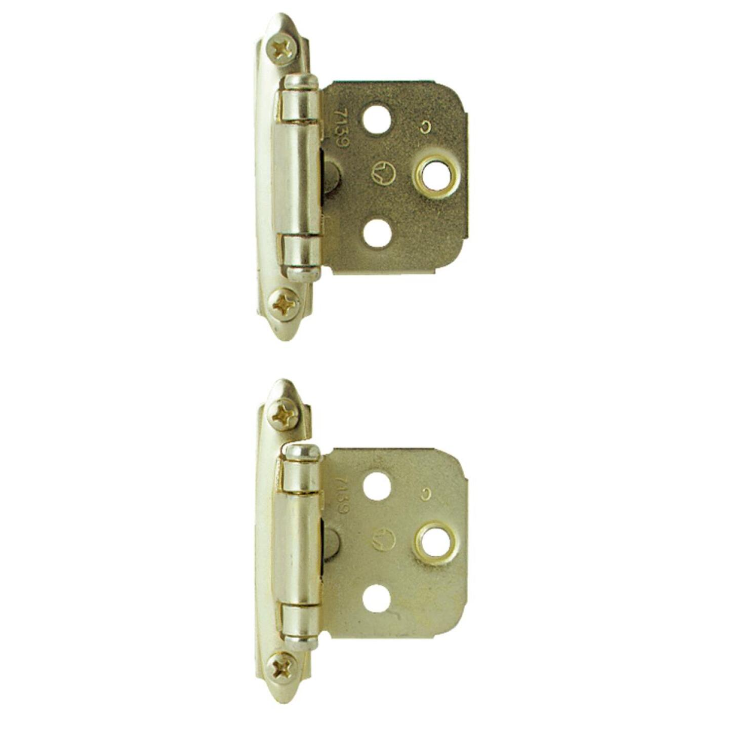 Amerock Polished Brass Self-Closing Face Mount Overlay Hinge (2-Pack) Image 1