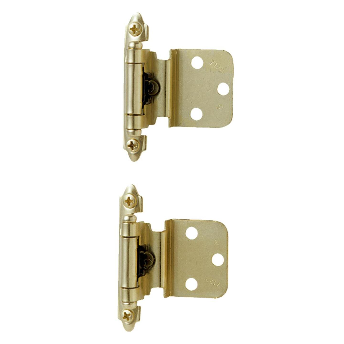 Amerock Polished Brass 3/8 In. Self-Closing Inset Hinge, (2-Pack) Image 1