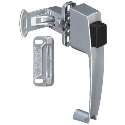 National Silver Push Button Latch with 1-1/2 In. Hole Spacing