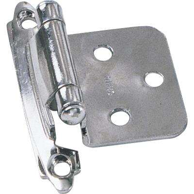 Laurey Chrome Self-Closing Overlay Hinge with Wood Screws (2-Pack)