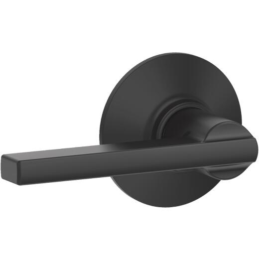 Schlage Latitude Matte Black Passage Door Lever