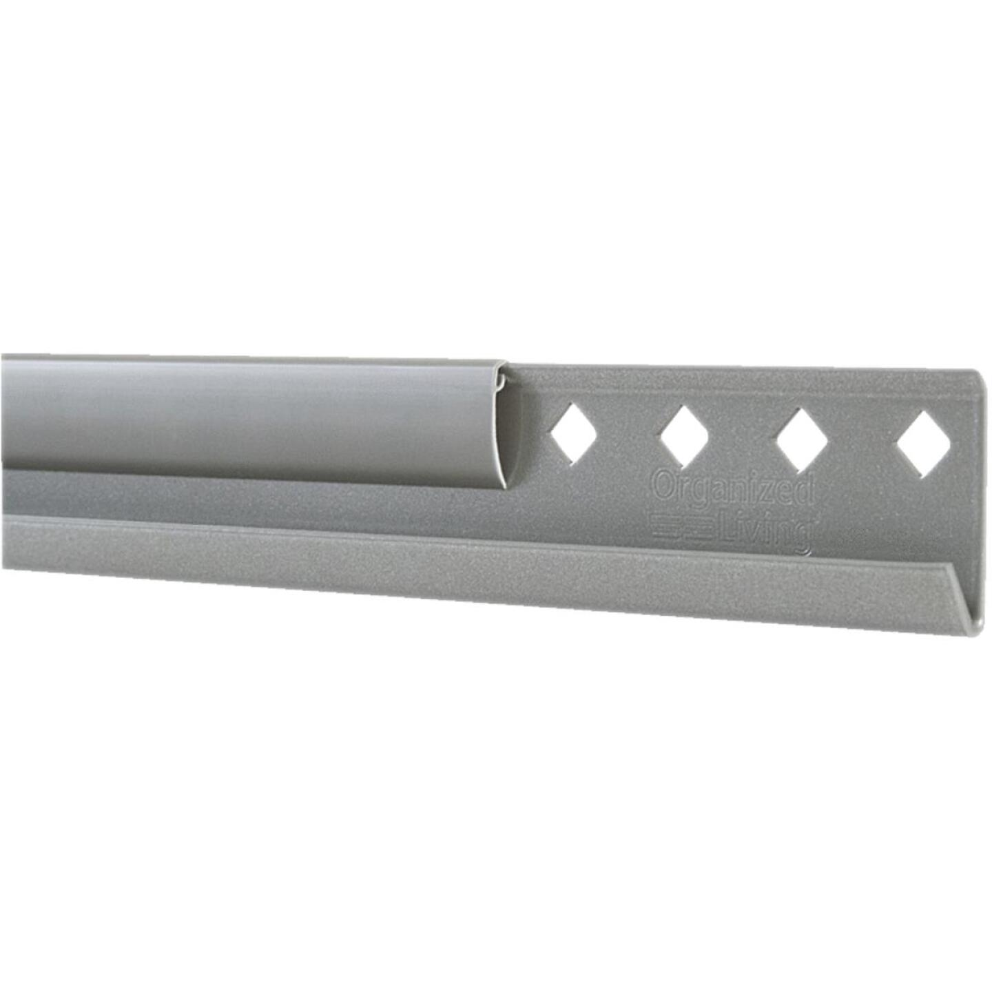 FreedomRail 24 In. Nickel Horizontal Hanging Rail with Cover Image 1