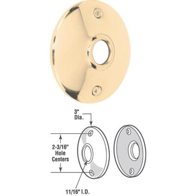 Defender Security 3 In. Replacement Door Knob Rose