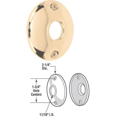 Defender Security 2-1/4 In. Replacement Door Knob Rose