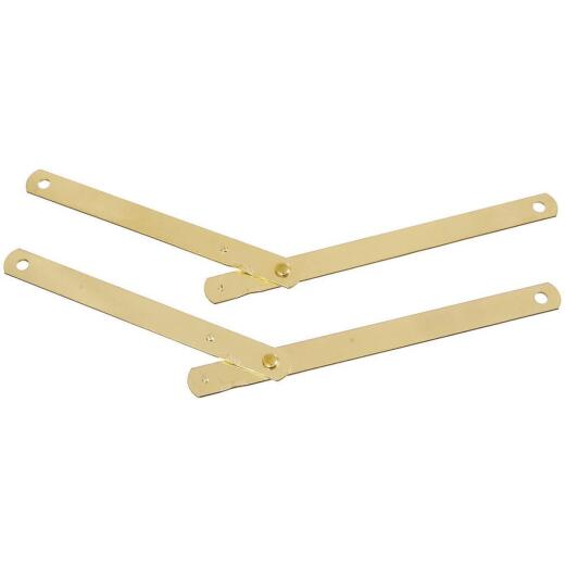 National Steel 9-1/2 In. Brass Table Leg Support,(2-Pack)