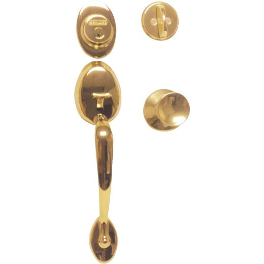 Schlage Bright Brass Entry Door Handleset