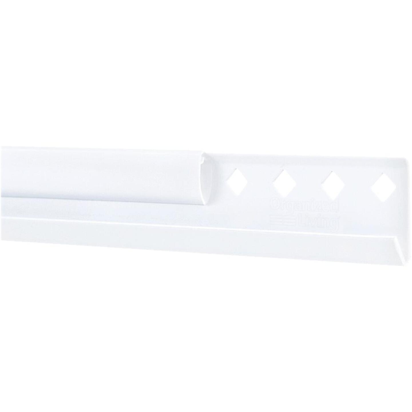 FreedomRail 60 In. White Horizontal Hanging Rail with Cover Image 1