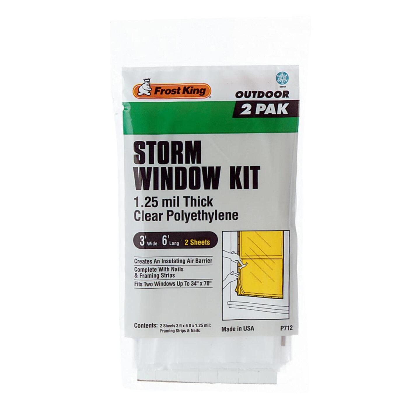 Frost King Outdoor 3 Ft. x 6 Ft. x 1. 25 Mil. Thick Storm Window Kit (2-Pack) Image 1