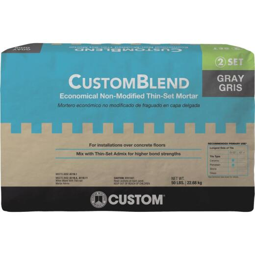 Custom-Blend 50 Lb Gray Mortar Mix