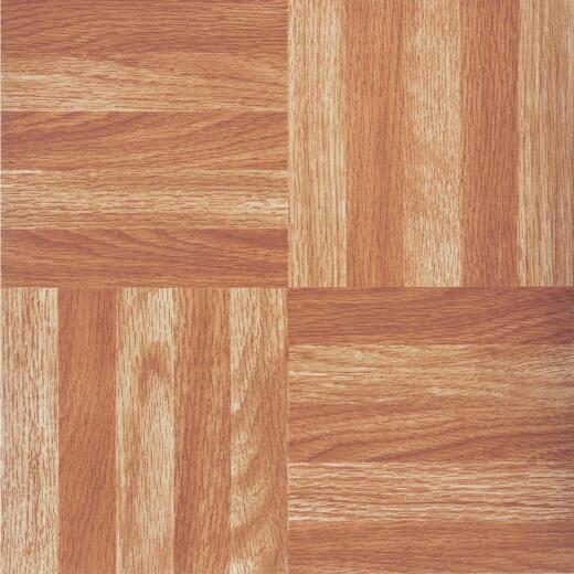 Home Impressions Wood Fingerblock 12 In. x 12 In. Vinyl Floor Tile (45 Sq. Ft./Box)