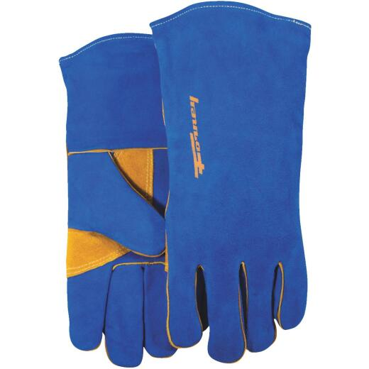 Forney Size 13-1/2 In. Blue Large Welding Gloves