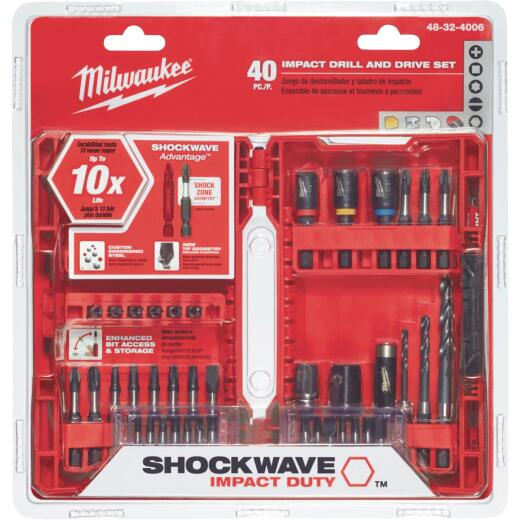 Milwaukee Shockwave 40-Piece Impact Duty Drill and Drive Set