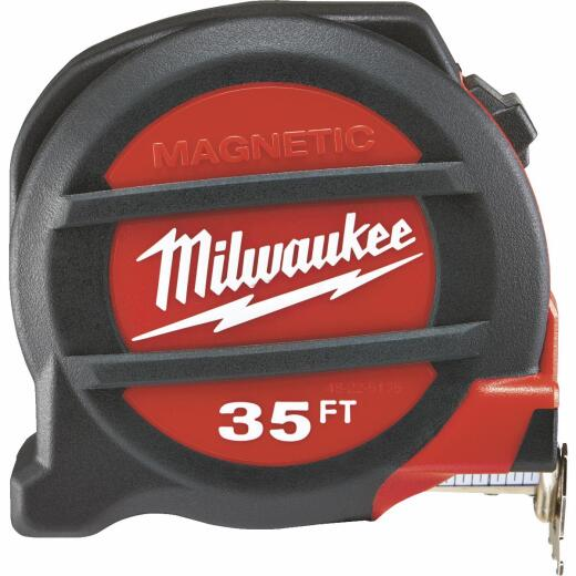Milwaukee 35 Ft. Magnetic Tape Measure with Blueprint Scale