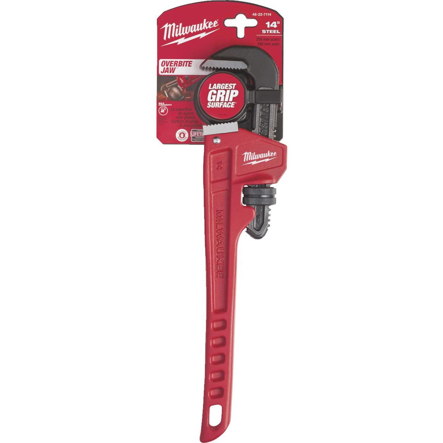 Milwaukee 14 In. Steel Pipe Wrench Image 1