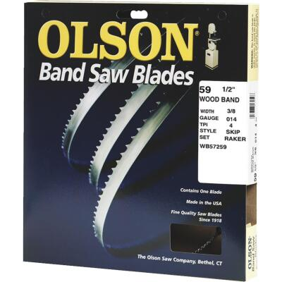 Olson 59-1/2 In. x 3/8 In. 4 TPI Skip Wood Cutting Band Saw Blade
