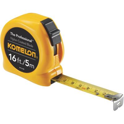 Komelon The Professional 5m/16 Ft. Metric/SAE Tape Measure