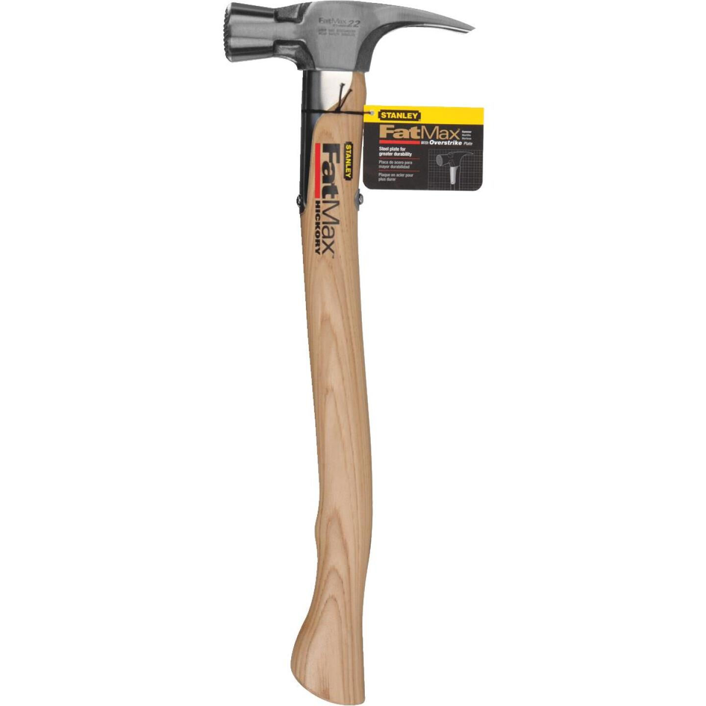 Stanley FatMax 22 Oz. Milled-Face Overstrike Framing Hammer with Hickory Axe Handle Image 2