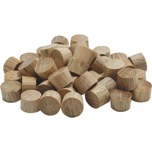General Tools 3/8 In. Oak Flat Head Plug (50-Count)