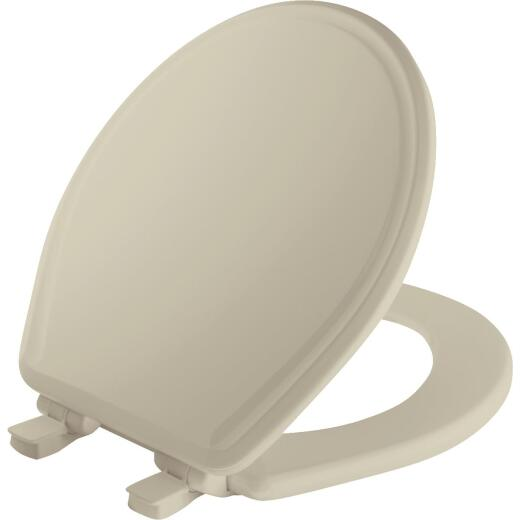 Mayfair Round Slow Close Bone Wood Toilet Seat