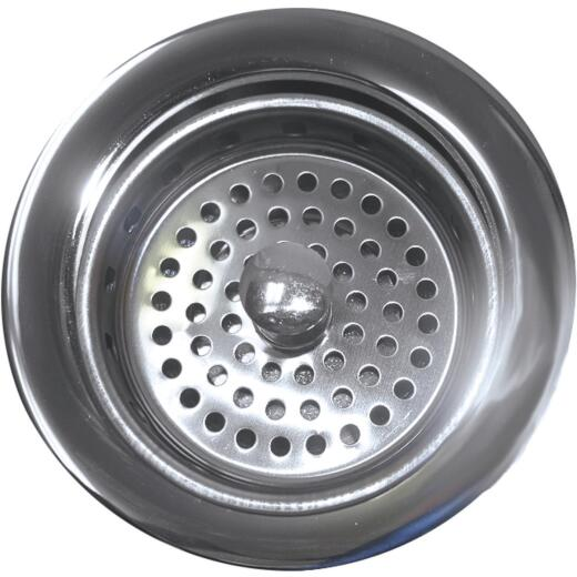 Lasco 3-1/2 In. Chrome Heavy-Duty Basket Strainer Assembly for Kohler
