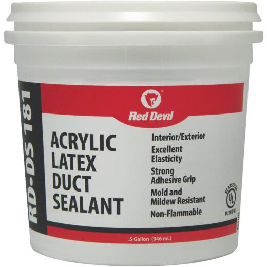 Red Devil RD-DS 181 0.5 Gal. Acrylic Latex Duct Sealant, Gray