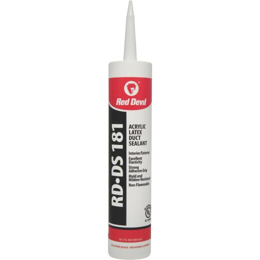 Red Devil RD-DS 181 10.1 Oz. Acrylic Latex Duct Sealant, Gray