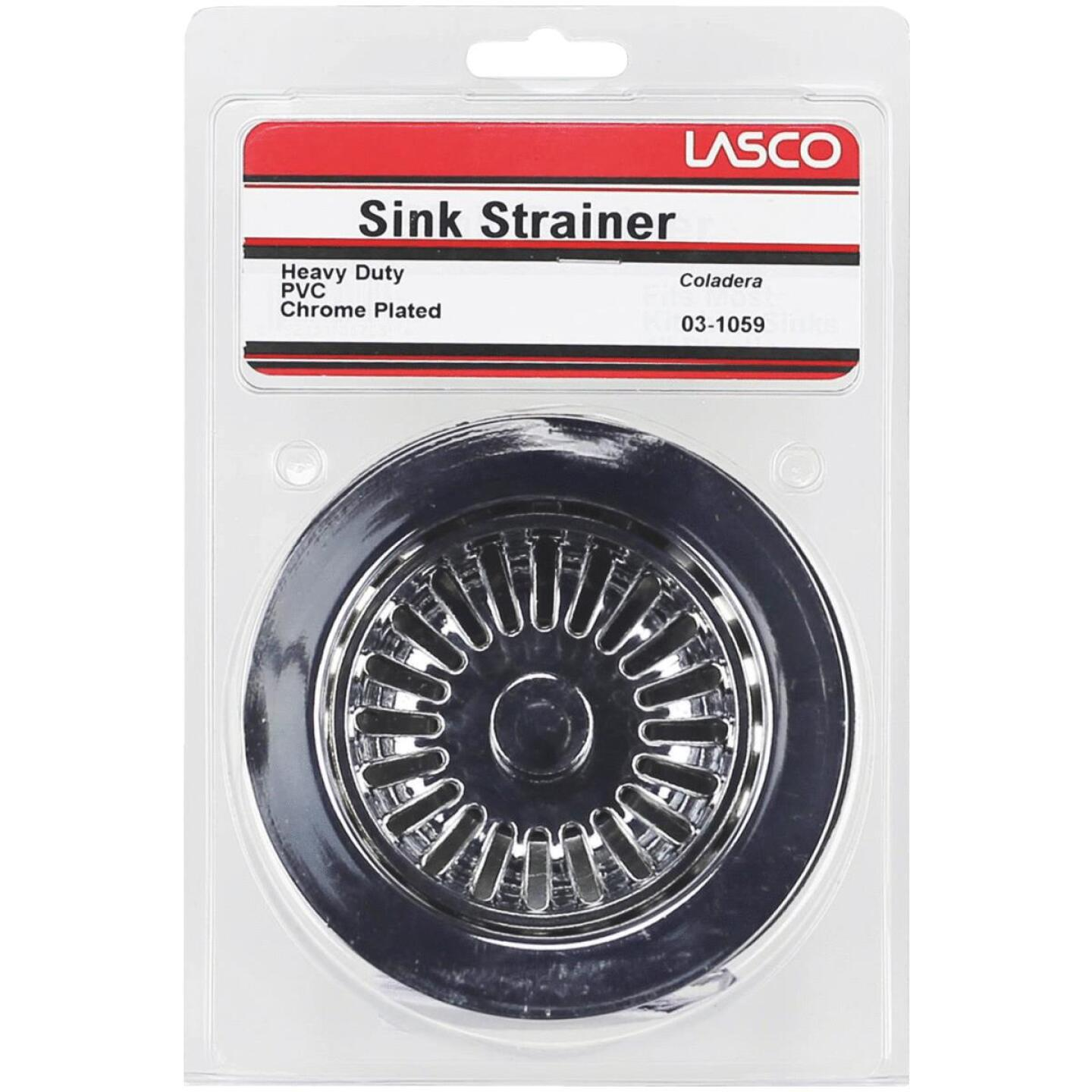 Lasco 3-1/2 In. Heavy-Duty Basket Strainer Assembly, Chrome Image 2