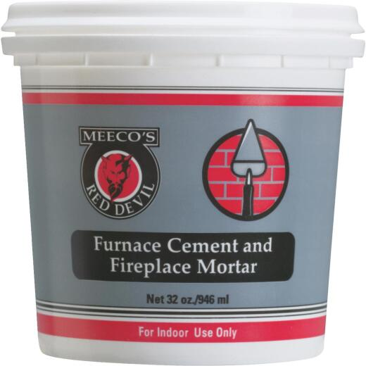 Meeco's Red Devil 1 Qt. Gray Furnace Cement & Fireplace Mortar