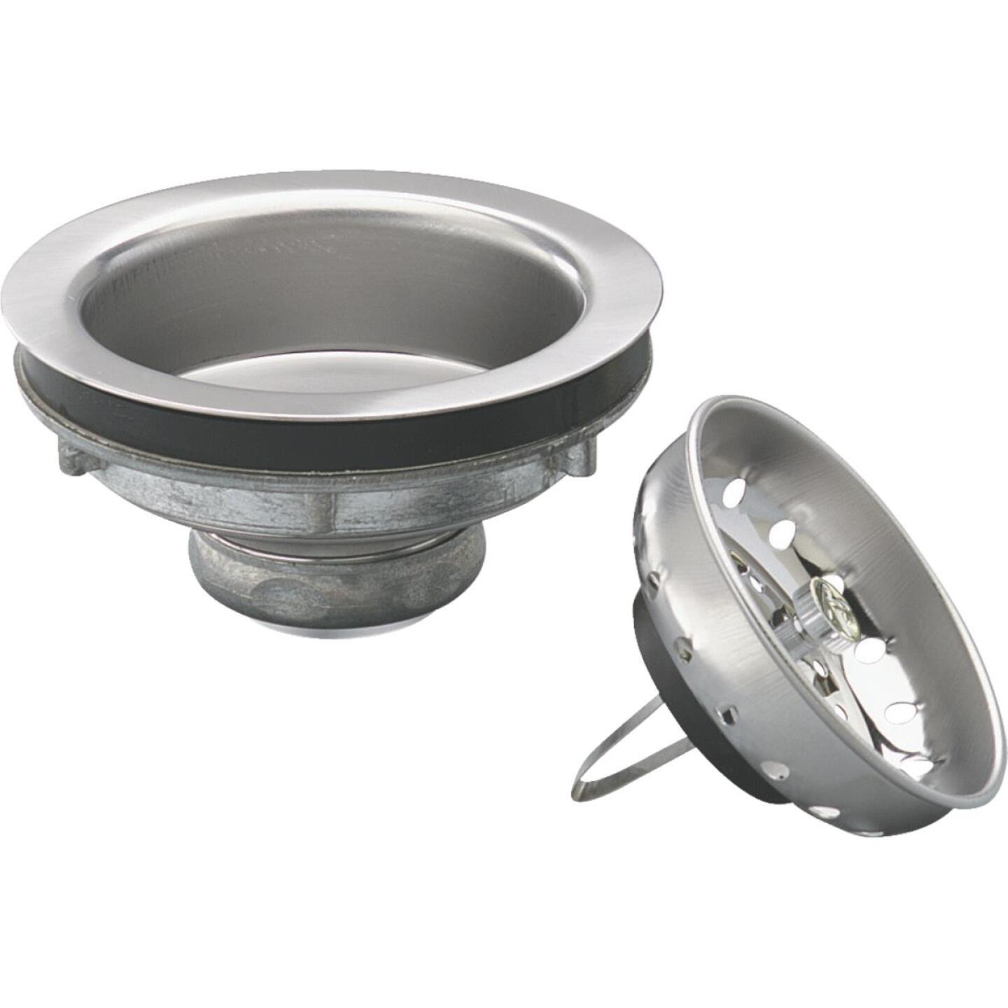 Keeney Champion 3-1/2 In. Stainless Steel Basket Strainer Assembly Image 1